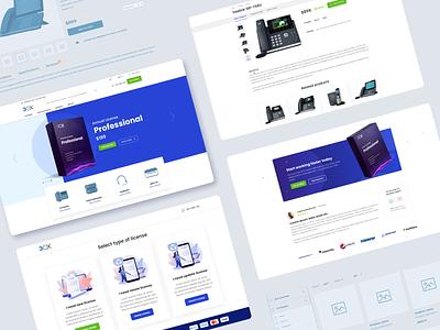 3CX. Voip licence store web design ui design user interface design interface ux shop e-commerce
