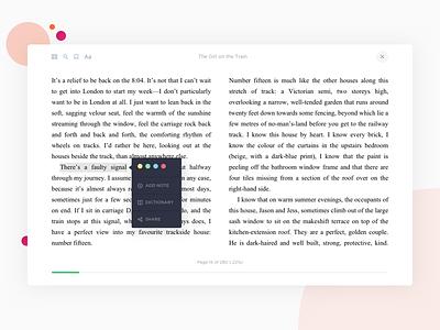 Online Reader web app design concept web design saas web app ui ux online reader e-commerce