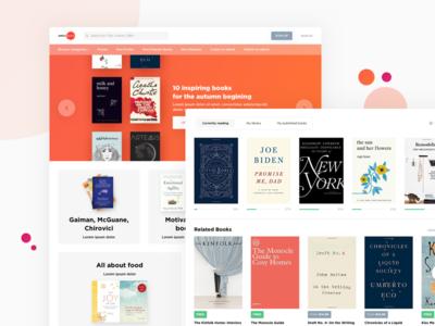 Online Reader web site design