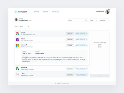 Conectar - smart job board design