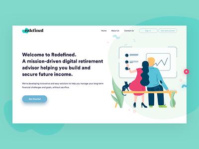 Retirement Planning Platform Design calculator ui ux web design design retirement platform investments platform fintech