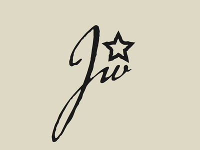 JW signature logo star ink pen initials logo initials lettering cursive signature vector illustration graphic graphic artists graphic art graphic artist graphic  design design
