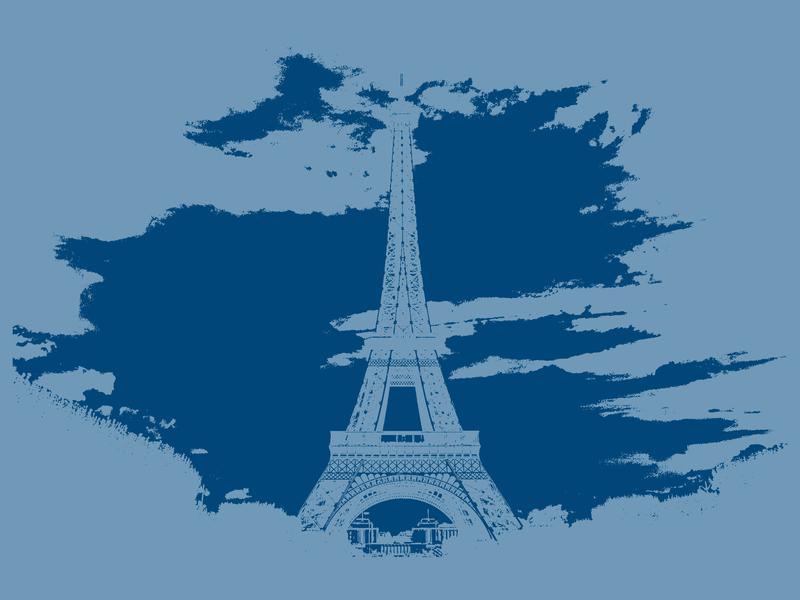 Eiffel Tower blue eiffel tower france paris decoration photo art photo wall art interior design graphic art graphic art graphic artist graphic  design design graphic artists