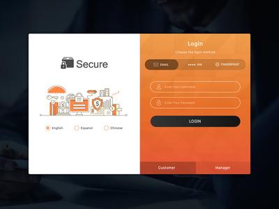 Login Screen UI