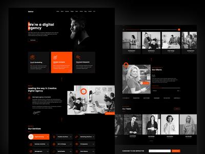 Gunter - Digital Agency Landing Page UIkit Template