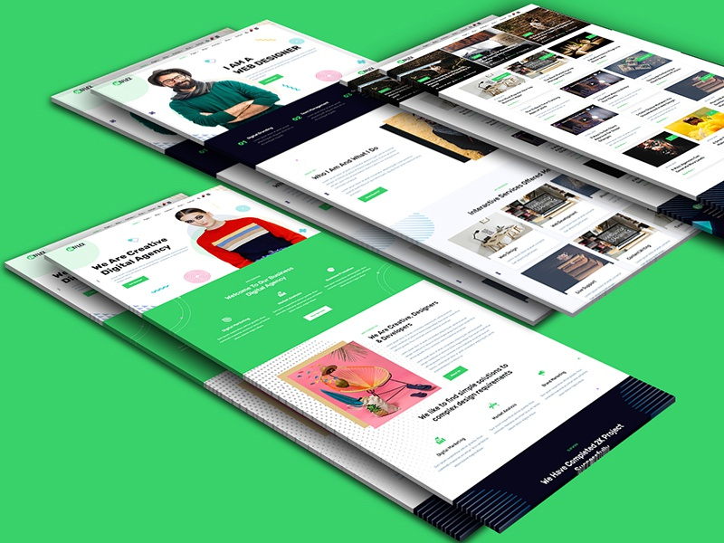 Artflex - Modern Digital Business Portfolio Template creative agency blog portafolio digital agency business corporate branding