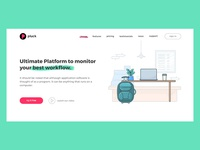 Pluck Software Landing Page Concept