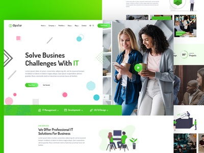Opstar - React Next IT Solutions  Startups Company Template nextjs reactjs corporate corporate design website design big data bigdata digital agency artificial intelligence ai it solutions it startups
