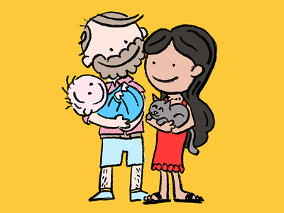 Fatherhood portrait family baby