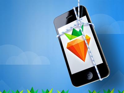 Dangling Carrot carrot gem crystal iphone