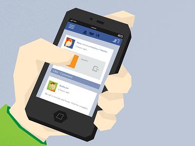 Facebook iphone facebook hand