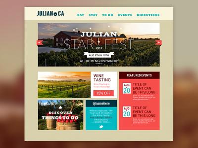 Tourism site - Julian California