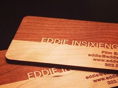 wooden business cards wood branding identity logo editor film business cards