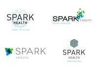 Logo Comps logo spark health vitamins medicine energy clinic crossfit supplements