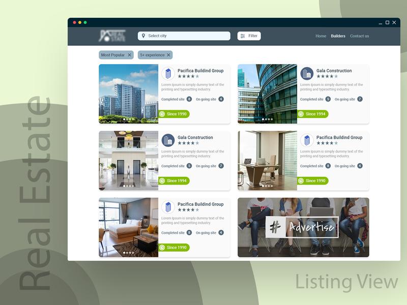 Real Estate Web Layout