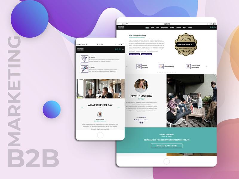B2B Marketing Responsive UI