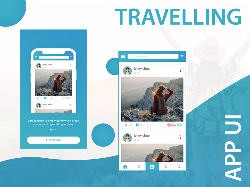 Travelling App UI