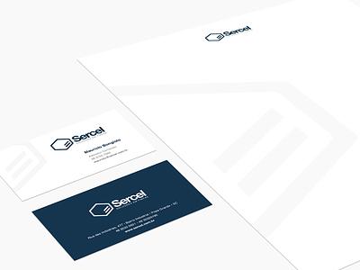 Sercel Soluções em Fibras branding id logo design mark brand