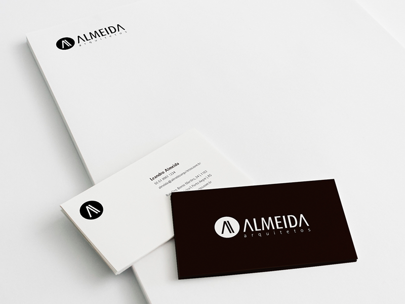 Almeida Arquitetos logotype id identity logo branding
