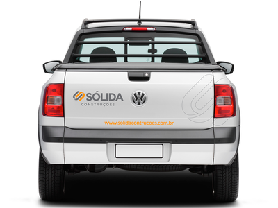 Sólida Construções brand branding design corporate identity car logo