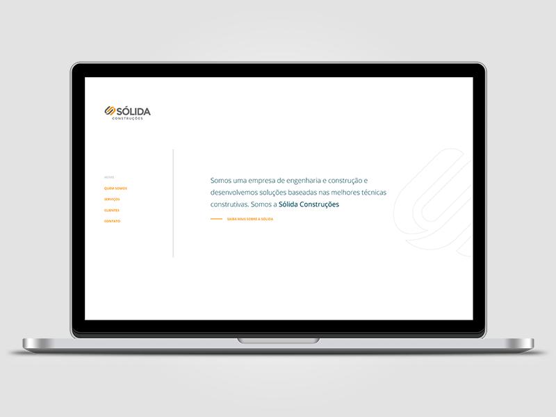 Sólida Construções visual design ia website site web design