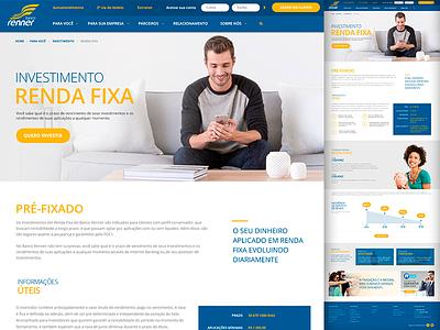Banco Renner ui landing page visual design ia website site web design