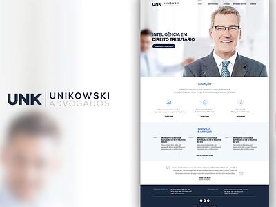 UNK Advogados Associados website web site ia wordpress visual design ui responsive single page design