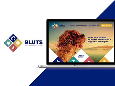 Blut's Centro de Diagnóstico Veterinário responsive wordpress website visual design ui site pet design wip teaser