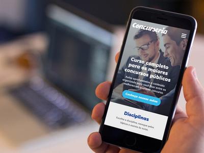 Concurseria visual design ux ui site responsive design mobile