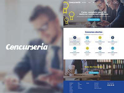 Concurseria visual design ai website responsive ui ux design
