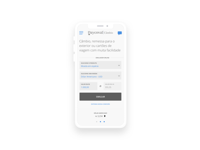 Daycoval Bank Mobile website wireframe ai ux responsive