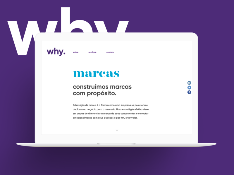 Why Branding branding site interface visual design design ui