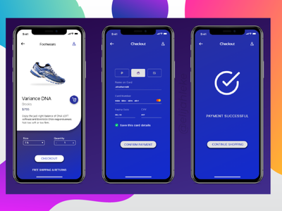 Mobile Checkout Page for a shopping app branding design app ui