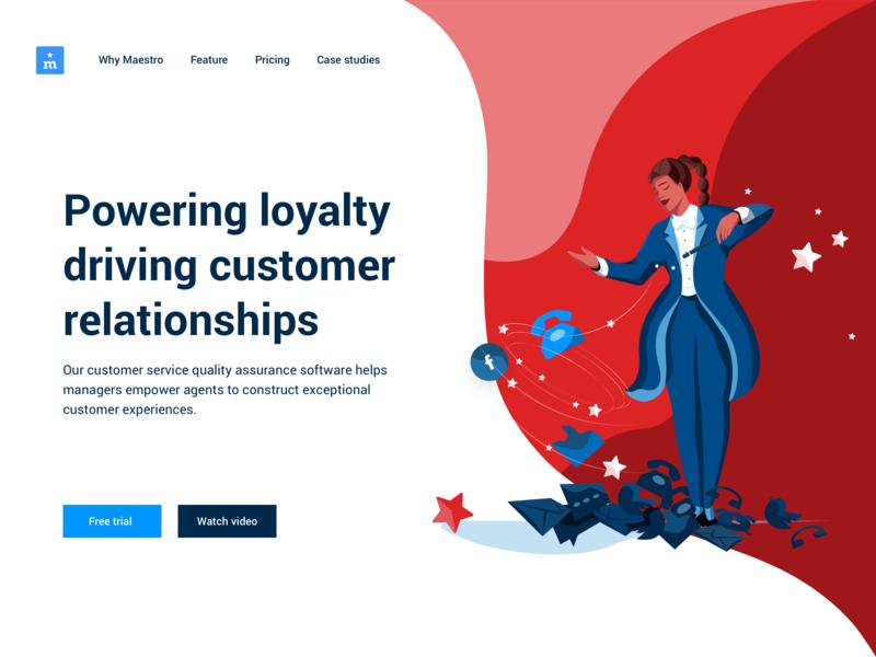 Maestro Website Redesign Part 1: WHY charachter design web design story telling maestro illustration female branding