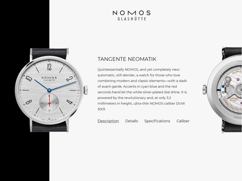 Nomos Glashutte Concept/Exploration