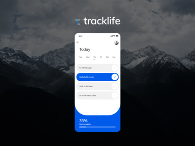 Tracklife App Design