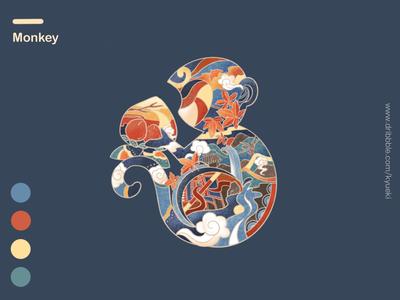 12 Symbolic Animals-Monkey