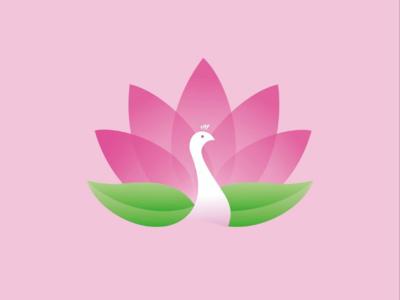 Merak + teratai logo