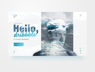 Portfolio website concept shot