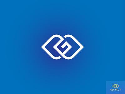 GESTALIT BRAND LOGO flat design design creative vector icon logo template minimalist logo minimalist