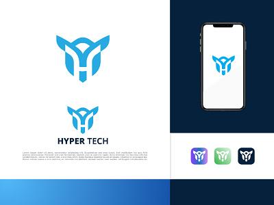 HYPER TECH BRAND LOGO letter logo creative design branding design