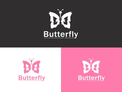 Butterpaly fly feminine female face elegant easy distinguished clean classic butterfly branding brand