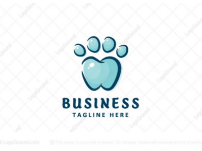 Pet Dental Logo for sale branding logos logo animal cat dog pet care dental teeth paw tooth