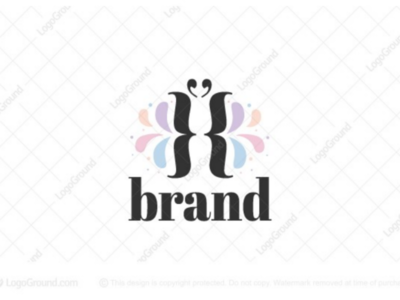 Elegant Coding Logo for sale branding logos logo woman applications developing software development web computer technology feminine curly mark quotations brackets elegant butterfly coding code