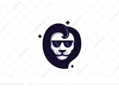 Celebrity Lion Logo (for sale) handsome barber lionhead modern sunglasses animal branding logos logo stars superstar celebrity cool lion
