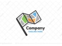 Map Flag logo for sale