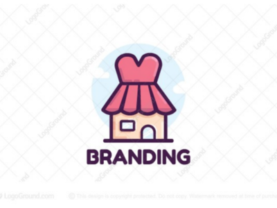 Fashion Shop Logo (for sale) online boutique top branding logos logo kids cute girly feminine female woman store clothing dress shop fashion