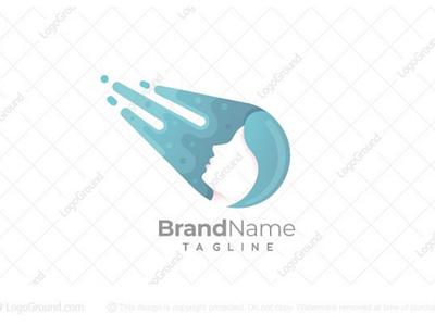 Shooting Star Logo (for sale) branding logos logo care skin drop water meteor asteroid beautiful beauty woman star shooting comet