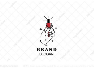 Nail Salon Logo branding logos logo feminine jewelry cosmetics beauty hand pedicure manicure salon polish nail