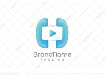Video Calling Logo skype design modern branding logos logo conference play mobile phone calling chat voice call video